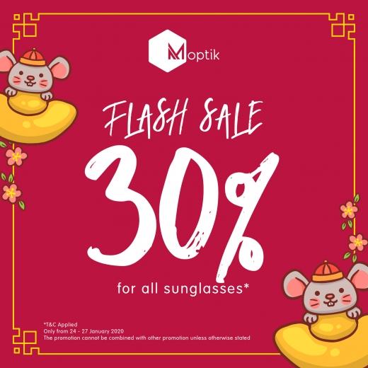 FLASH SALE 30% OFF untuk setiap pembelian sunglasses